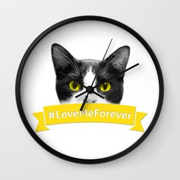 #LoveMeForever Wall Clock