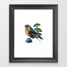 Ginkgo Bird Framed Art Print