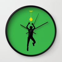 volleyball Wall Clocks featuring VOLLEYBALL by INNOCENT DESIGNER