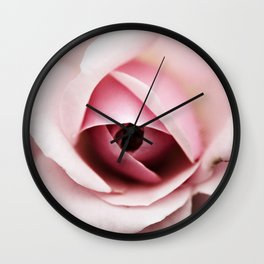 Rouge Pink Rose Wall Clock