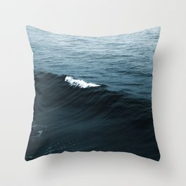 Dark Blue Ocean Throw Pillow