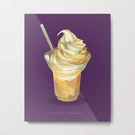Dole Whip in Purple Metal Print