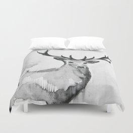 Watercolor Deer Duvet Cover