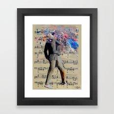 THE ART OF KISSING Framed Art Print