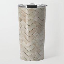 Woven straw Travel Mug