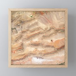 Faults in Xinjiang | Spacer Collection Framed Mini Art Print