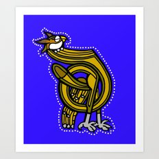 Medieval Owl Letter D 2017 Art Print
