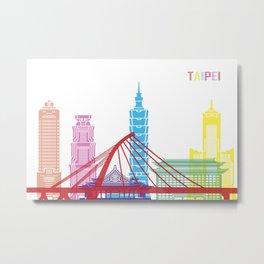 Taipei skyline pop Metal Print