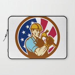 American Handyman USA Flag Icon Laptop Sleeve