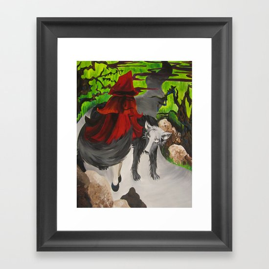 Riding Hood Framed Art Print