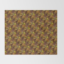 Painted Autumn Leaves Throw Blanket