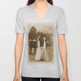 Strolling on the Battlefield Unisex V-Neck