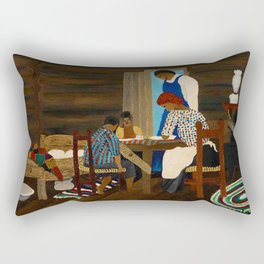 African American Masterpiece 'Giving Thanks' by Horace Pippin Rectangular Pillow