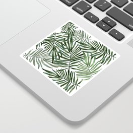 Watercolor simple leaves Sticker