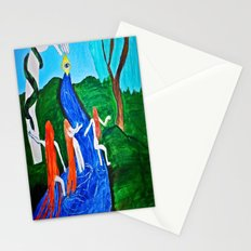 Adam and Eve in Wonder Land  Stationery Cards