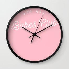 BADASS BABES CLUB PINK Wall Clock