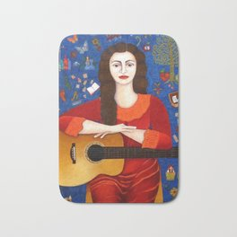 "Violeta Parra - ""Thanks to Life "" Bath Mat"