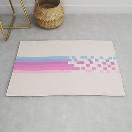Classic 80s Pop Culture Retro Stripes Pixel Drops - Asakichi Rug
