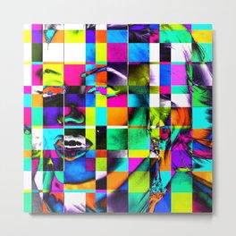 Cubist / Marilyn Pop Art Metal Print