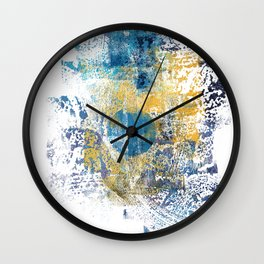 Wild Eclipse - Abstract Painting I Wall Clock