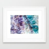 crystals Framed Art Prints featuring crystals  by lokyic