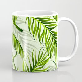 Trendy exotic floral pattern with palm leaves Coffee Mug