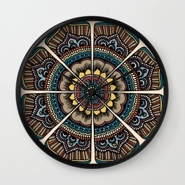 Byzantium con leche Wall Clock