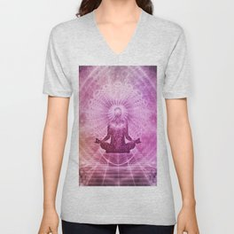 Spiritual Yoga Meditation Zen Colorful Unisex V-Neck