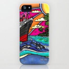 Queen Mary and Dolphins iPhone Case