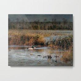 Mallards in the Swamp Metal Print