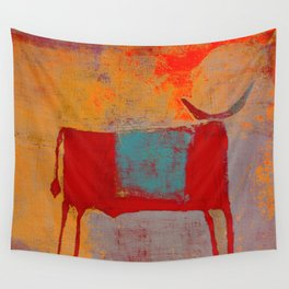 Toro Rojo Wall Tapestry
