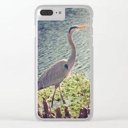 Erin, Erin, the big Blue Heron Clear iPhone Case