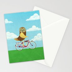 Owl Bicycle Stationery Cards