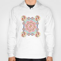 quilt Hoodies featuring Mandala Quilt by Helene Michau