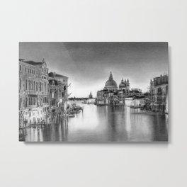 Venice Pencil Drawing Metal Print