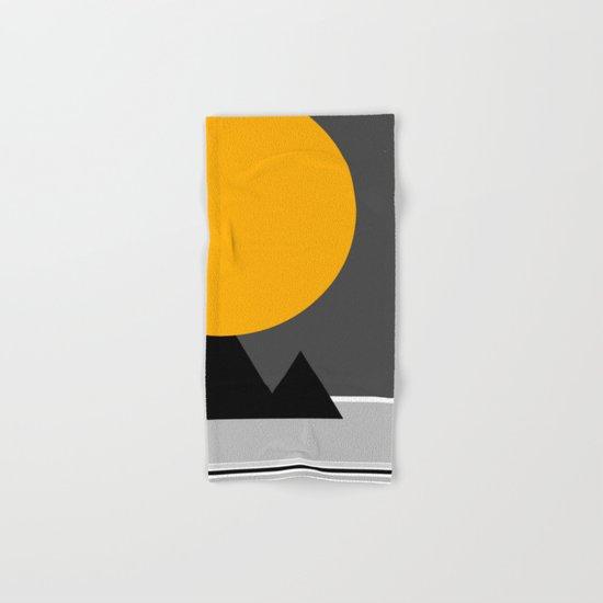 sun over Pyramides Hand & Bath Towel