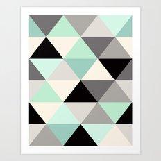 Mint Geo Art Print