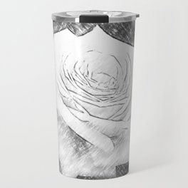 Pink Roses in Anzures 4 Charcoal Travel Mug
