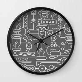 Robot Workshop line art design Wall Clock