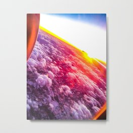 sunset from the plane Metal Print