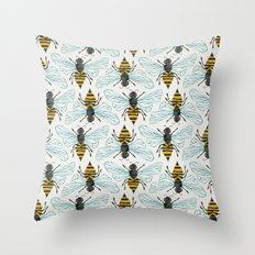 Honey Bee Throw Pillow
