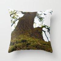 moss Throw Pillows featuring Moss by Kallian