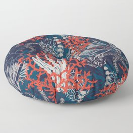 Corals and Starfish Floor Pillow