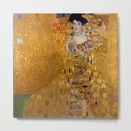 The Woman In Gold Bloch-Bauer I by Gustav Klimt Metal Print