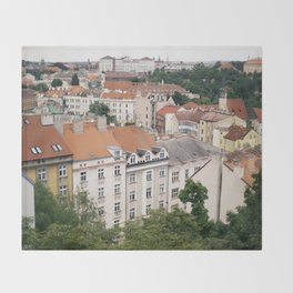 Prague Rooftops Throw Blanket