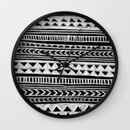 Triangle and Herring Bone Pattern Wall Clock