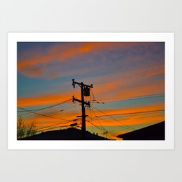 Suburban Sunset Art Print