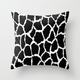Spot Pattern White Black Speckled Throw Pillow