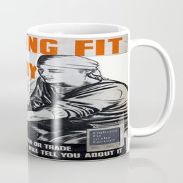 Vintage poster - Fighting Fit in the Factory Coffee Mug
