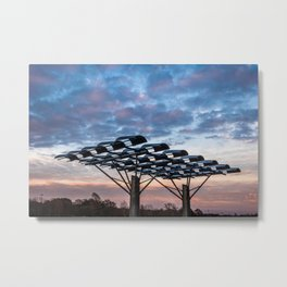 Manmade vs Nature Metal Print